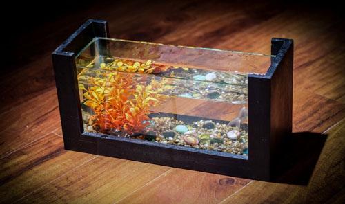 Bể cá mini - Bể cá để bàn làm việc - 1